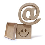At symbol. Email. Mailbox on white background Royalty Free Stock Photo