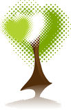 Symbol Environment. Tree Heart Royalty Free Stock Images