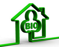 Symbol environmentally friendly home Stock Photo