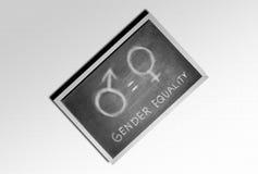 Symbol of equality gender on the blackboard. Equality gender concept stock photos