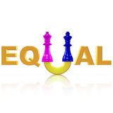 Symbol for the Equality between Man and Woman Stock Photos