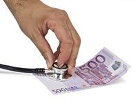 Symbol of euro crash Stock Image