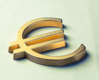 Symbol of Euro currency Stock Photography