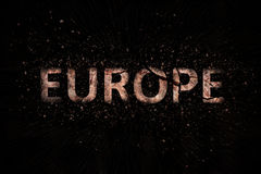The symbol of Europe. Cracked and bursting Royalty Free Stock Images