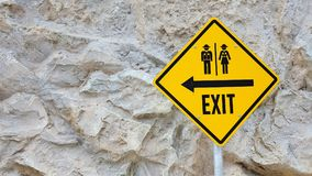 The Symbol : Exit Sign Royalty Free Stock Photo
