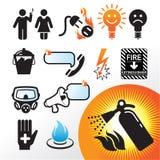 Symbol extinguisher Stock Photography