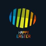 Symbol för ägg för lycklig påskvektor färgrikt abstrakt Arkivfoto