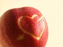 symbol för äpplehjärtared Arkivbild