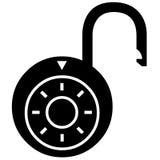 Symbol för öppet lås Arkivfoto
