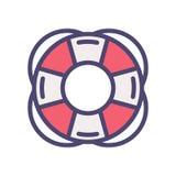 Symbol för översikt för livbesparing boj fylld tunn också vektor för coreldrawillustration stock illustrationer