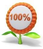 symbol för 100 blomma Vektor Illustrationer