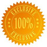 symbol för 100 exclusive Royaltyfri Bild