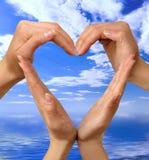 symbol för 4 hjärta Arkivfoto