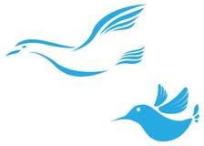 Symbol för abstrakt begrepp för flygfågel royaltyfri illustrationer