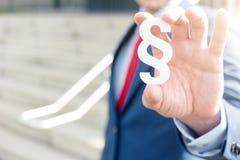 Symbol för advokatinnehavavsnitt - lagbegreppsbild Royaltyfri Fotografi