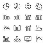 Symbol för affärsdiagram Arkivbild