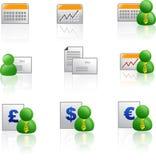 symbol för affärskolonn-finans Arkivfoton