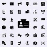 Symbol för affärskort Universell uppsättning för Digital marknadsföringssymboler för rengöringsduk och mobil royaltyfri illustrationer