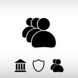 Symbol för affärsman, vektorillustration Sänka designstil Arkivbilder