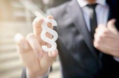 Symbol för affärsmaninnehavavsnitt - lagbegreppsbild Royaltyfri Fotografi