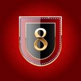 symbol för alfabetguldsköld Royaltyfria Bilder