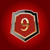 symbol för alfabetguldsköld Fotografering för Bildbyråer