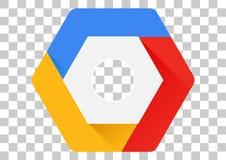 symbol för apk för Google molnkonsol Arkivfoton