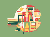 Symbol för arbetsdesignbegrepp stock illustrationer