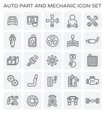 Symbol för auto mekaniker stock illustrationer