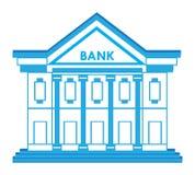 Symbol för bankbyggnad stock illustrationer