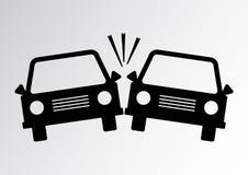 Symbol för bilolycka också vektor för coreldrawillustration royaltyfri illustrationer
