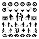 Symbol för blind man Royaltyfri Foto