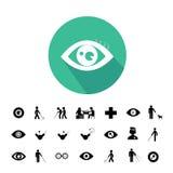 Symbol för blind man och sjukhus Royaltyfri Foto