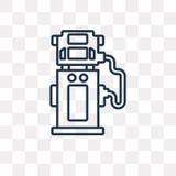 Symbol för bränsleutmatarevektor som isoleras på genomskinlig bakgrund, l stock illustrationer
