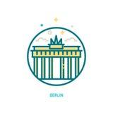 Symbol för Brandenburg port Royaltyfri Fotografi