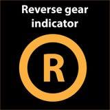 Symbol för bromsljussignal på bilpanelen Instrumentbrädavarningstecken Uppmärksamhetsymbol vektor illustrationer