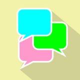 Symbol för bubblaanförandelägenhet vektor illustrationer