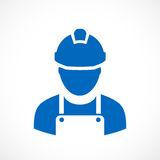 Symbol för byggmästarearbetarvektor vektor illustrationer