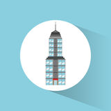 Symbol för byggnadsgränsmärkelopp vektor illustrationer