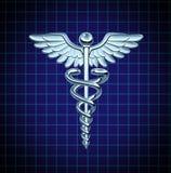 symbol för caduceusomsorgshälsa Arkivbilder