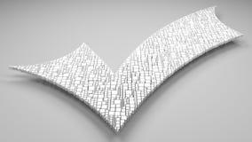 symbol för Checkmark 3D Royaltyfri Illustrationer