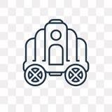 Symbol för Cinderella vagnsvektor som isoleras på genomskinlig backgrou royaltyfri illustrationer