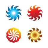 Symbol för cirkulär för bladsymbolsuppsättning Arkivfoton