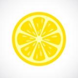 Symbol för citronskivavektor vektor illustrationer