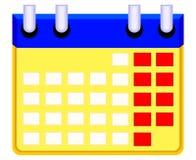 Symbol för Colorfull tecknad filmkalender vektor illustrationer