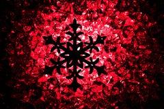 symbol för crhistmassnowflakestjärna Royaltyfri Foto