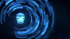 Symbol för cryptocurrency för svindel för projektion för hud för hologram för hand för affärsman stock illustrationer