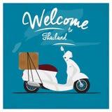 Symbol för cykel för tappningleveransmotor i Thailand Royaltyfri Fotografi