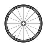 Symbol för cykelmtbhjul, vektor Cykla gummi, bergdäck med ventilen Konditioncirkulering, mountainbike stock illustrationer