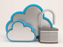 symbol för 3D Cloud Drive Arkivfoton